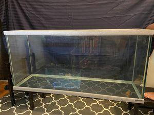 55 gallon fish/reptile tank glass, gray granite trim for Sale in Queens, NY
