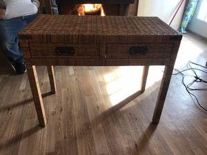 Rattan table/desk for Sale in Douglassville, PA