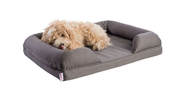 New Small grey memory foam dog bed