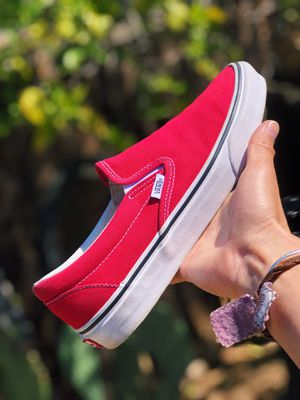 RED SLIP ON VANS for Sale in San Jose, CA