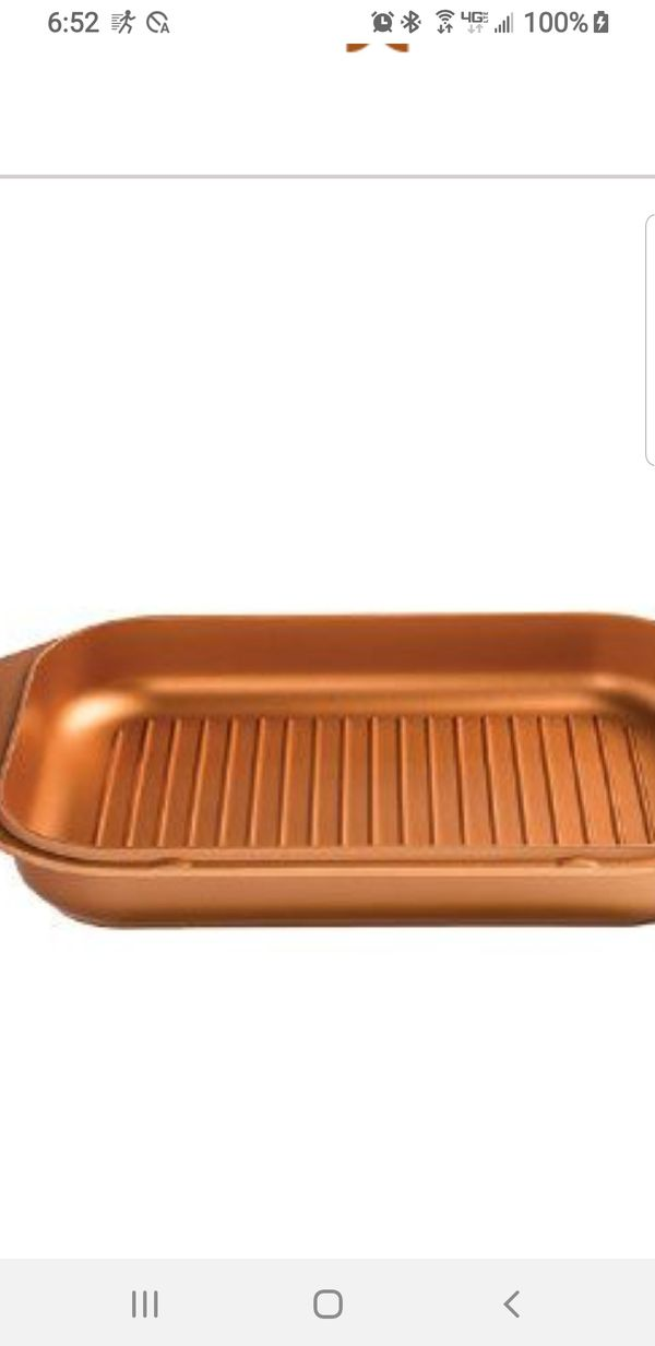 BRAND NEW 3.5 - QT . GRILL PAN COOK ON STOVE AND PUT IN OVEN