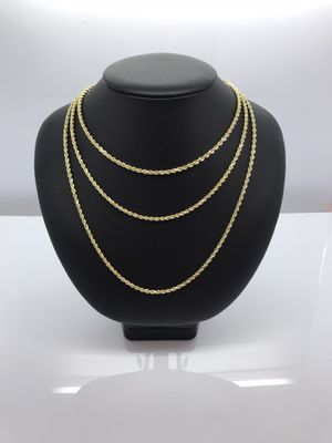14k Gold Rope Chains New for Sale in Renton, WA