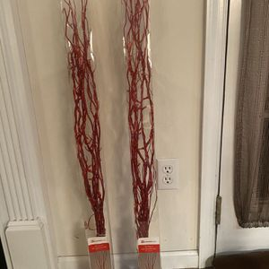 39 Inch Tall LED Branches Decorations (Red Glitter) for Sale in Warrington, PA