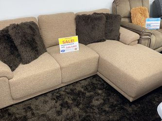 ***SALE*** Havana Light Brown Sectional Sofa. Add On Coffee Table Set For Only $199. Delivery Today🚚!!! for Sale in Tampa,  FL