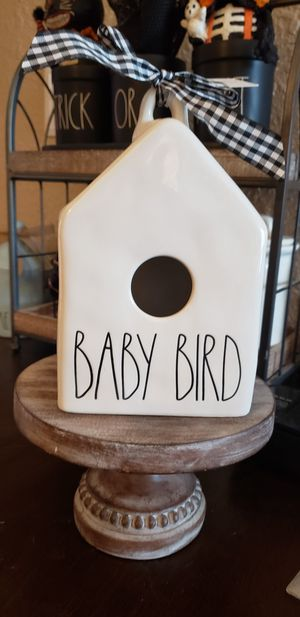 Rae Dunn Baby Bird Birdhouse for Sale in Tacoma, WA