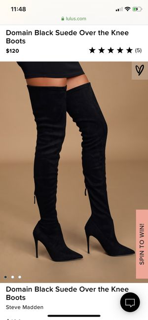 Steve Madden Suede Over the Knee Boots for Sale in Lynnwood, WA
