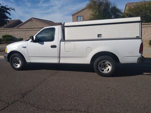 Company truck 2001 FORD f150 with work shell! COLD AC! RUNS PERFECT! Similar to dodge ram gmc sierra chevy Silverado titan ranger tundra frontier ** for Sale in Phoenix, AZ