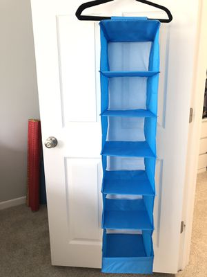 Soft Fabric Over Closet Rod Hanging Storage Organizer with 6 Shelves for Sale in Westlake, OH