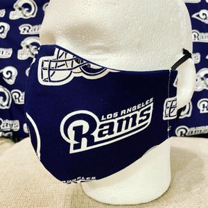 Handmade Masks Lon Angeles Rams. NFL Football. 100% Cotton. Reusable. Preventive. 5 Layers. Filter . for Sale in Orlando, FL