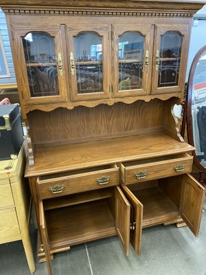 (FREE DELIVERY) Heavy wooden china cabinet for Sale in Lincoln, NE