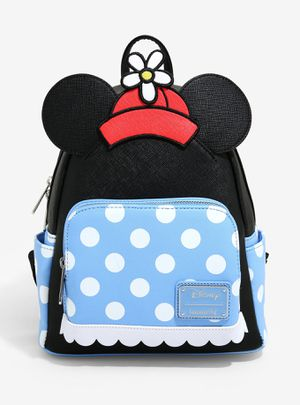 DISNEY LOUNGEFLY MINNIE MOUSE RETRO POLKA DOT MINI BACKPACK for Sale in Montebello, CA