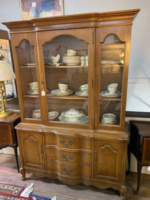 Country French Fruitwood China Cabinet for Sale in Beaver Falls, PA