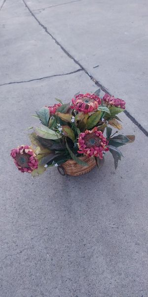 Faux flowers in pot for Sale in Fresno, CA