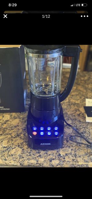 Aicok Glass Jar Smoothie Blender Not only looks fantastic but it is designed to perform at the highest commercial level for professional chefs for Sale in Stockton, CA