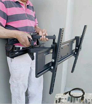 "New Universal Wall TV Mount Fits 32"" to 65"" TV Sizes Swivel Full Motion Tilt Heavy Duty Dual Arms for Sale in Downey, CA"