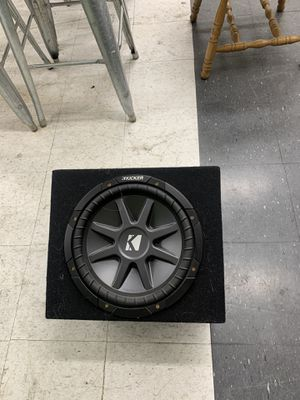 """Kicker CompVR 12"""" with box and Alpine AMP plus wiring. for Sale in Vallejo, CA"""