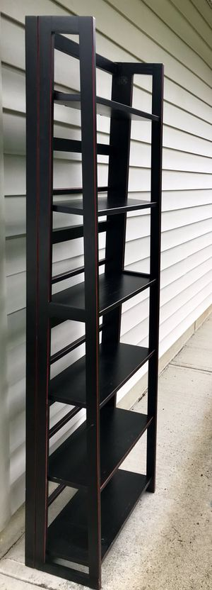 Black 6-Shelf Ladder Bookcase for Sale in Vancouver, WA
