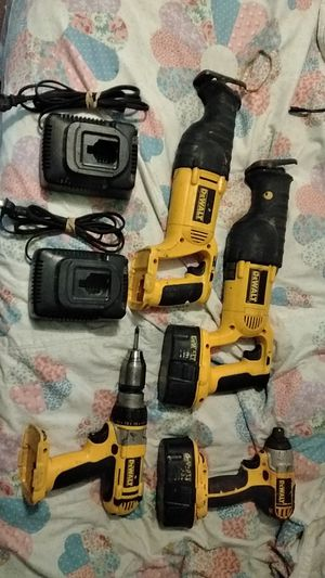 DeWalt sawzaws, hammer drill, impact drill, two batteries and two chargers for Sale in Murfreesboro, TN