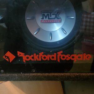 10 Inch MTX 8000 Sub im a Rockford Fosgate Plexiglass Box for Sale in Hayward, CA