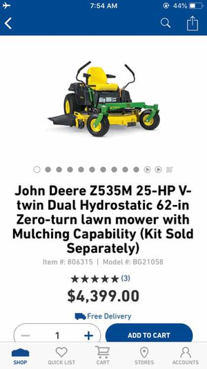 New John Deere Z535M 25-HP V-Twin Dual Hydrostatic 62-Inch Zero Turn Lawn Mower for Sale in Dallas, TX