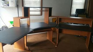 12 ft wooden corner desk for Sale in Fairview Heights, IL