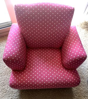 Upholstered Kids Rocking Chair - Pink with Polka Dots for Sale in Irvine, CA