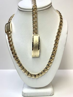 10 karat Gold chino link bracelet and chain #830TD for Sale in Houston, TX