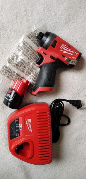 Milwaukee New IMPACT 3 generación M12 fuel and brushless (3 Speeds) , battery 2.0 ah and Charger. KIT NUEVO for Sale in Los Angeles, CA