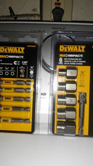 DeWALT 5pc MAGNETIC NUT DRIVER & 6pc BOLT EXTRACTOR SETS for Sale in Arcadia, CA