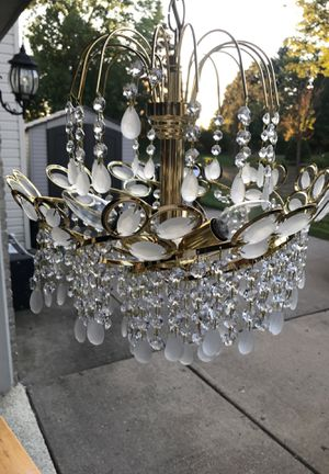 Small crystal chandelier for Sale in Shelby Charter Township, MI