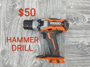 ridgid hammer drill works excellent only $50 for Sale in Littlerock, CA