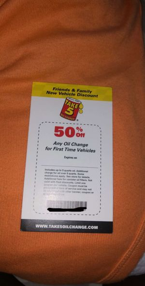 Oil Change Coupon for Sale in Tampa, FL