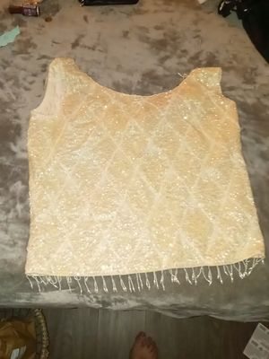 Beaded sequins sleeveless blouse. for Sale in Pasadena, CA