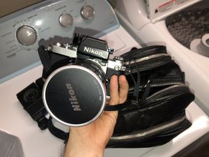 Nikon AS with 2 Lenses and Leather Bag for Sale in Port St. Lucie, FL