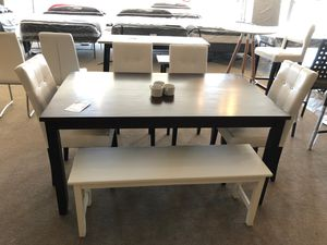 Wooden table w 4 chairs & bench for Sale in Phoenix, AZ