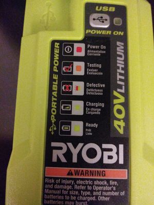 2 new ryobi I have 40v multiple usehargers, USB , INVERTERS ONE IS PORTABLE for Sale in Austin, TX