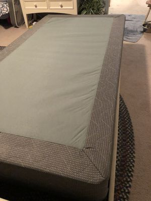 Twin mattress / box spring / head and foot boards / twin bed frame for Sale in Snohomish, WA