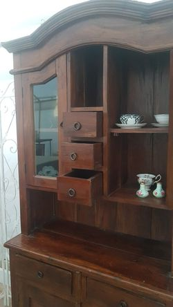 Shabby Chic Indonesian Vintage Kitchen Cabinet Armoire Hutch for Sale in Los Angeles,  CA