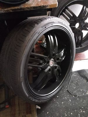 22 inch black Rims and Tires for Sale in Las Vegas, NV