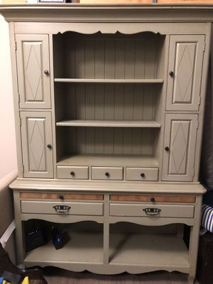 Solid wood kitchen hutch for Sale in Bethlehem, PA
