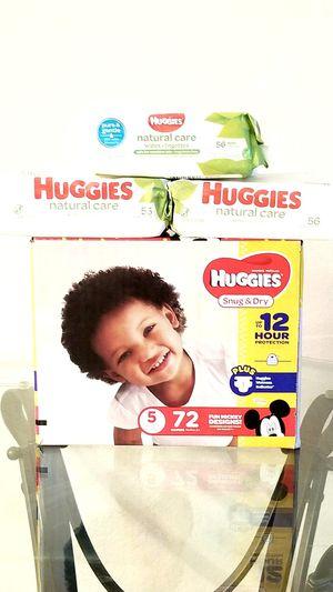 Huggies Snug & Dry Size 5 Set for Sale in Orlando, FL