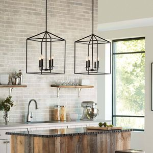 Seagull Lighting Perryton Farmhouse Chandelier New Black for Sale in Newport Beach, CA