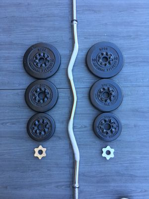 Weights CurlBar 45lbs BFCO set for Sale in Riverside, CA