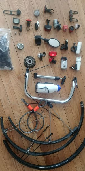 Bicycle parts bike lights fenders rack bags accesories for Sale in Chicago, IL
