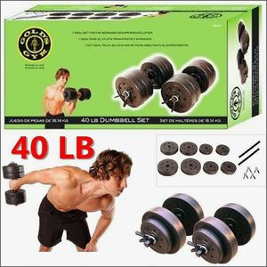 40 LB Vinyl Dumbbell Set Weight Dumbbells Hand Weights Adjustable for Sale in Addison, IL