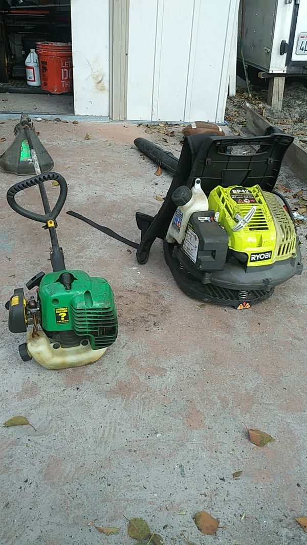 Blower and a weed eater