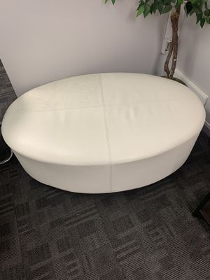 White Leather Oval Couch for Sale in Murray, UT