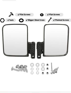 Golf Cart Mirror, 180 Degree Rear View Mirror and Adjustable Side Mirrors Universal Fit for Club Car, Ezgo, Yamaha, Star for Sale in Rosemead, CA