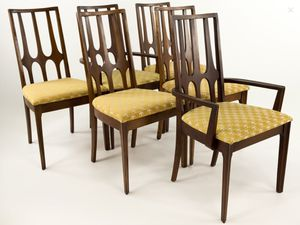 SET OF 6 MCM MID CENTURY MODERN BROYHILL BRASILIA CHAIRS AND FREE TABLE - SHIPPING AVAILABLE for Sale in Greensburg, PA