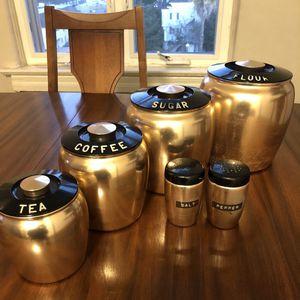 Mid Century Kromex Spun Aluminum Kitchen Canisters Set for Sale in Los Angeles, CA